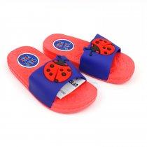 Детские шлепки Божья Коровка красные пляжная обувь тм GIOLAN