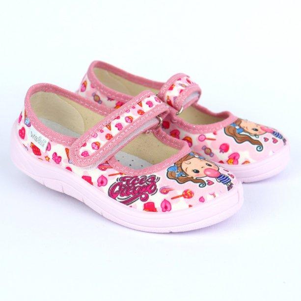 Детские розовые тапочки Алина тм Waldi, Девочка