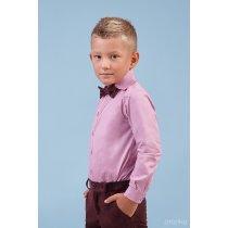 Комплект Жилет Рубашка с бабочкой бордовый бархат тм Zironka