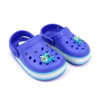 Кроксы для  мальчика с led подсветкой синие тм GIOLAN