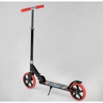 Детский двухколесный самокат черный тм Best Scooter, колеса PU d=20 см, грипсы резиновые