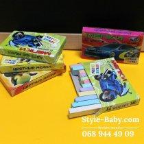 Мелки белые и цветные 1шт в упаковке для детей