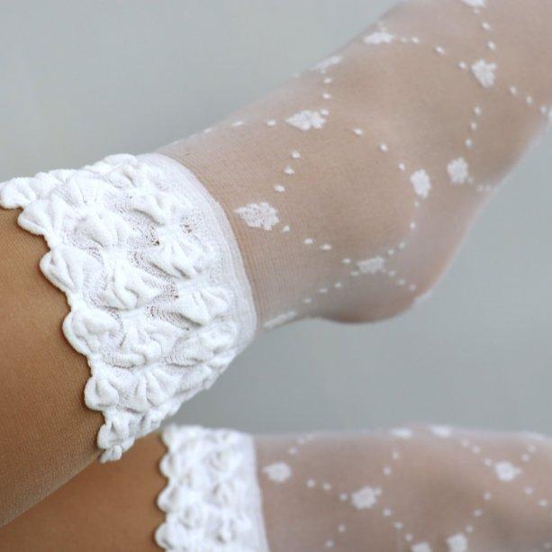 Белые детские носки капроновые тм AnnA
