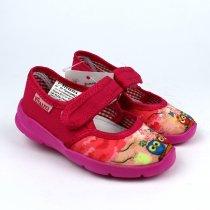 Детские розовые тапочки в садик для девочки