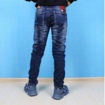 Детские джинсы для мальчика с брелком на тм S&D Jeans