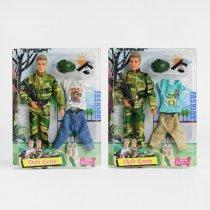 Кукла с нарядом Defa Кен, 30см, шарнирный, оружие, 2 вида, на листе, 25-32,5-5см, для детей