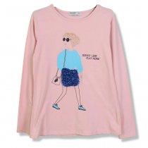 Детская кофточка для девочки с рисунком розовая тм GLO-STORY