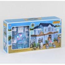 """Игрушка Вилла на морском берегу """"Счастливая семья"""" мебель, подсветка, в коробке"""