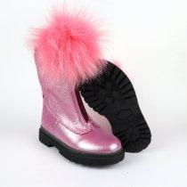 Кожаные сапоги для девочек Олтея