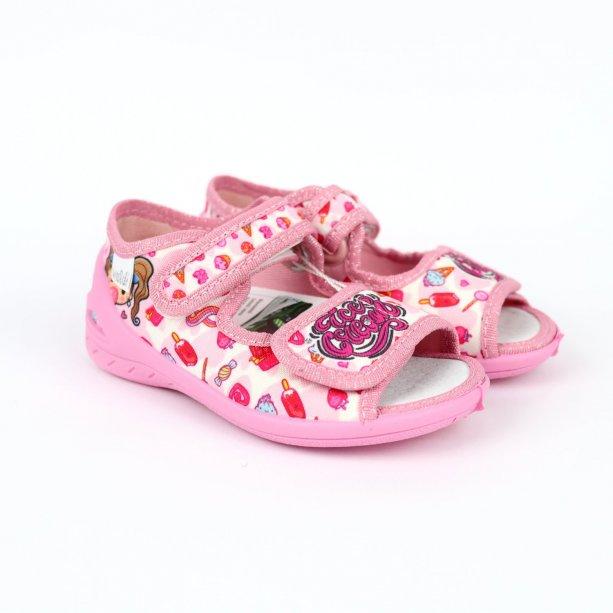 Детские текстильные туфли тапочки девочке Єва  тм Waldi