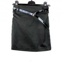 Школьная юбка Карандаш с лампасами Черная тм Vdags