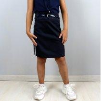 Школьная юбка Карандаш с лампасами Синяя тм Vdags